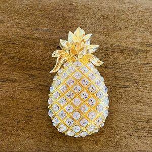 {Vintage} Garnay Pineapple Pin Brooch Pendant